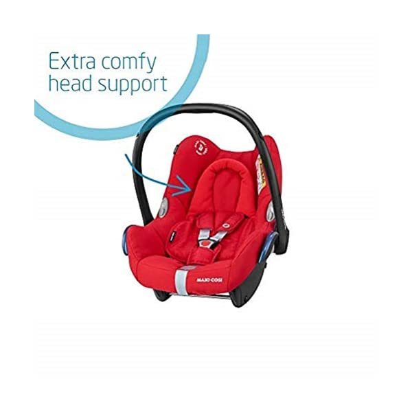 Maxi-Cosi CabrioFix Baby Car Seat Group 0+, ISOFIX, 0-12 Months, 0-13 kg, Nomad Red with Easyfix Car Seat Base, ISOFIX or Belted Installation for CabrioFix, 0-12 m, 0-13 kg Maxi-Cosi Optimal side impact protection: maxi-cost's side protection system technology features in the wings of the car seat to reduce the risk of injury in a side impact collision Click-and-go installation: quick and easy installation with any maxi-cosi base unit Used in combination with the Maxi-Cosi CabrioFix infant car seat 4