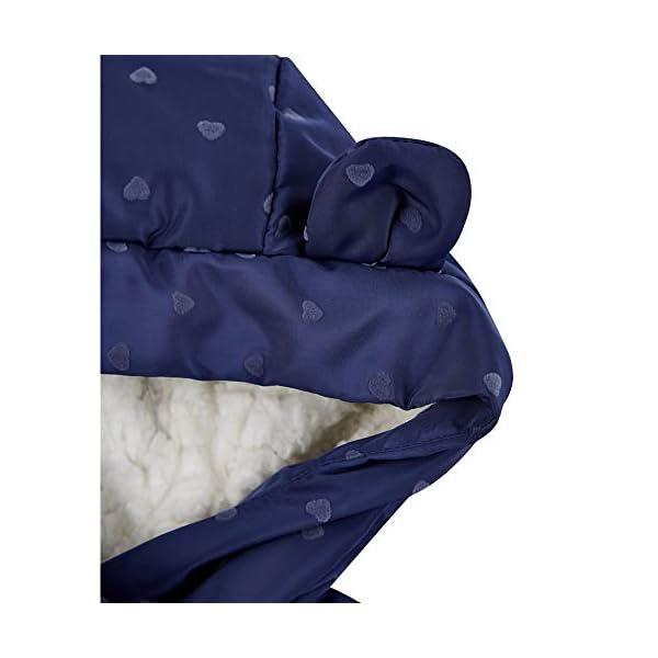 Mothercare Padded Coat Duvet Wrap Navy Heart Abrigo para Bebés 3