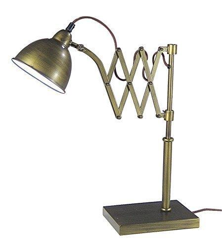 linoows Maritime Tisch Scherenlampe, Kartenraum Lampe, Tisch Leuchte Altmessing