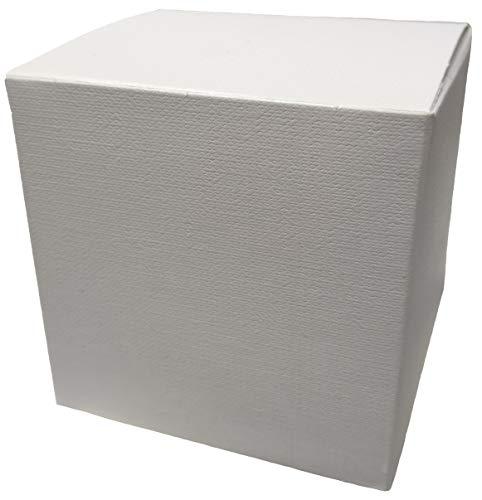 Punto casa 25 scatole astuccio pieghevole cartone x bomboniere bianco 10x10x10 cm