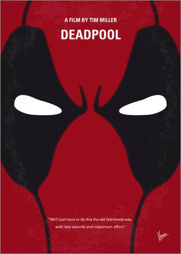 Poster 30 x 40 cm: No639 My Deadpool minimal movie poster di chungkong - stampa artistica professionale, nuovo poster artistico