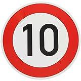 ORIGINAL VERKEHRSSCHILD 10 KM/H Schild DN 60 cm Nr. 274-51 zum Geburtstag als Geburtstagsgeschenk für Verkehrszeichen StVO 600 mm Geburtstagsschild RAL Straßenschild Schilder Verkehrsschilder Straßenschilder Geburtstagsverkehrsschild Straßenzeichen