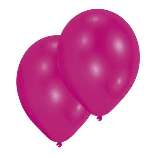Amscan lot de 10 ballons de baudruches rose fushia 27,5 cm
