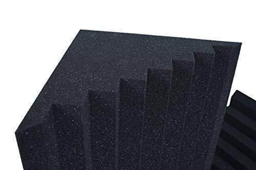 Basstraps Ranurado Absorción De Sonido 25x25x100 D30 Negro Anthracite - Paquete de 4