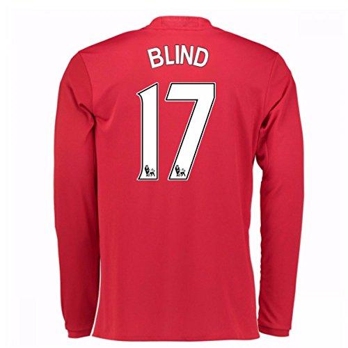 2016-17 Man United Home Long Sleeve Shirt (Blind 17) - Kids
