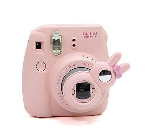 Woodmin Lapin Style Selfie-lentille Filtres pour Fujifilm Instax Mini 8 / 7S Caméra (Rose)