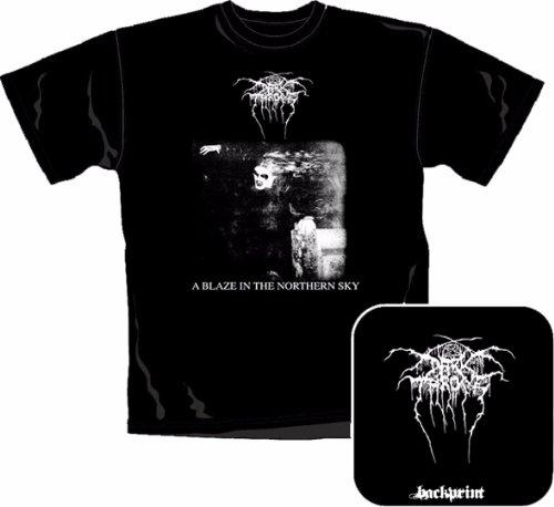 Articolo con licenza ufficiale Band T-Shirt - Dark In Trono - A Blaze In The Northern Sky