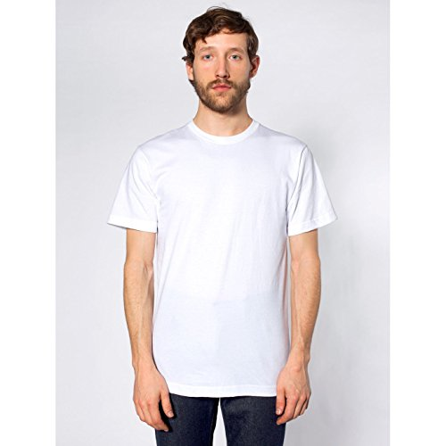 american-apparel-t-shirt-manches-courtes-homme-m-blanc