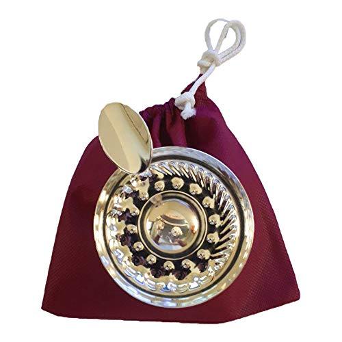 Euposia Sommelier MOD. Borgogna Professionale - Silver Plated - Conf. Komplett mit Kette für Halswärmer und Tasche.