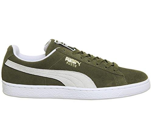 Puma Herren Olive Wildleder Classic Sneakers-UK 9