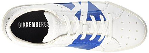 shoe Bikkembergs Scarpe In Bluette Uomo er bianco Basse L 668 Pelle M Rubb Bianco 0q0rw4
