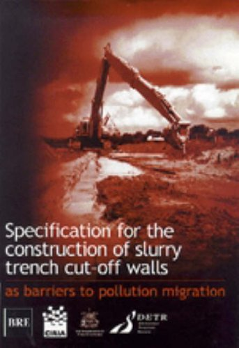 Specification for the Construction of Slurry Trench Cut-off Walls Cut-off-rock