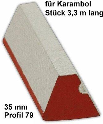 Las bandas goma, carambola, 35 mm, pieza 3,3 M largo