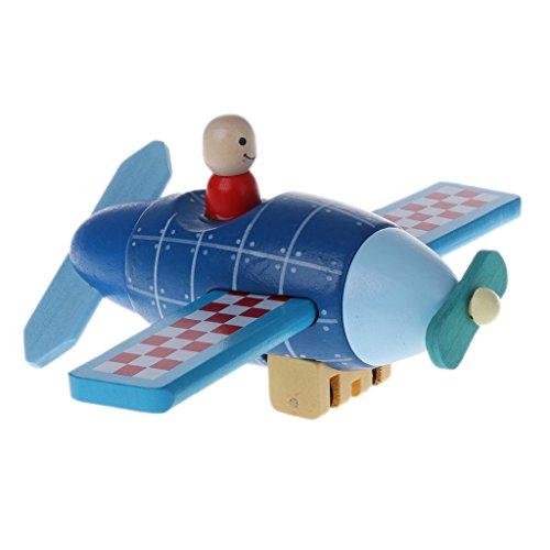 Qiuxiaoaa Magnetische Demontage Modell Magnetische Flugzeuge Rakete Hubschrauber Kinder Hands-on Puzzle Holzspielzeug Flugzeuge