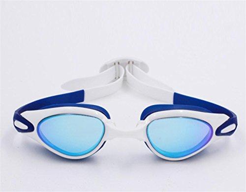 ZH Goggles High - Definition Beschichtung Hochwertige Wasserdichte Anti - Nebel Schwimmen Ausrüstung Männlichen Und Weiblichen Schutzbrillen Schwimmbrille , Blue And White,blue and (Nebel Maschine Schwere)