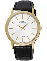 Seiko Herren-Armbanduhr Solar Analog Quarz Leder SUP872P1