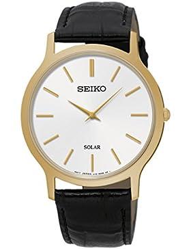Seiko Damen-Armbanduhr Analog Quarz Leder SUP872P1