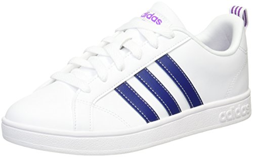 adidas Damen Vs Advantage Fitnessschuhe, Mehrfarbig (Ftwr White/Mystery Ink F17/Shock Purple F16 Ftwr White/Mystery Ink F17/Shock Purple F16), 42 EU (Frauen-tennis-schuh)