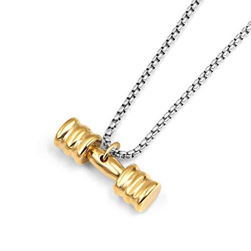 Preisvergleich Produktbild Xinmeitezhubao Titan Stahl Anhänger,  herrschsüchtiges Paar Anhänger,  europäische und amerikanische Mode Fitness Hantel Halskette