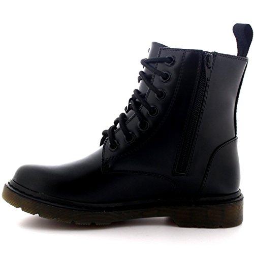 Hombre Chunky Goth Punk Rétro Cru Chaussures Combat Militaire Bottines Noir