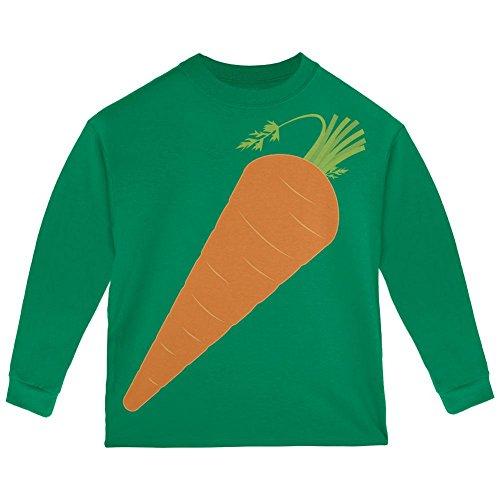 Halloween Gemüse Karotte Kostüm Kleinkind Langarm T Shirt grün 2 (Kostüme Kleinkind Karotten)