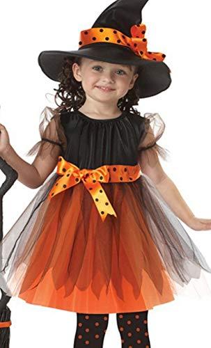 Miscoloor Halloween Kleidung für Kinder Halloween Verkeidung mit Hut Hexe Kostüm Cosplay für Baby Mädchen Kleider + Hut ()