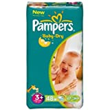 Pampers - P04275101 - Couches Baby Dry midi + T3 + 5/10kg format Géant - 48couches