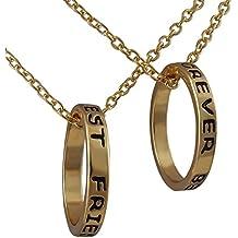 1add98909ae0 Hanessa  apos regalo colgante de joyas de 2 celtas collares Anillo en Navidad  Chica Best friends forever en oro para la mejor amiga Mujer