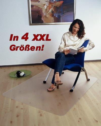 Floordirekt PRO XXL Bodenschutzmatte - 180x200cm - für Hartböden - 100% Polycarbonat