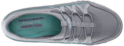 Skechers Breathe-Easy Relaxation, Sneaker Donna Grey - Grau (GRY)