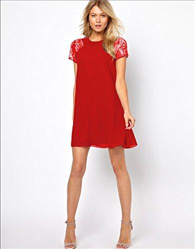 JOTHIN - Robe - Femme Fleurs Rouge