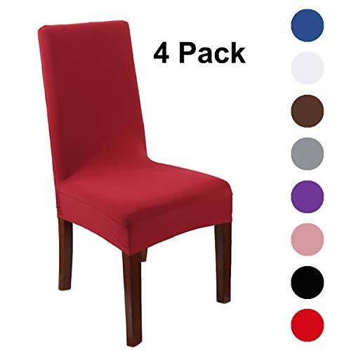 Kailh coprisedie con schienale, lavabile estraibile coprisedile, elasticizzato copertura della sedia bi-elastico modern decorativo protezione in stretch in tessuto per casa, ristorante, hotel, ecc