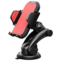 Phone Holder for Car, Mpow Grip Pro 2 Dashboard Car Phone Holder Universal Phone Mount Adjustable Phone Cradle with Strong Sticky Gel Pad for iPhone 7 7 Plus 6 5 Samsung S8 LG and Other Cellphone, Red