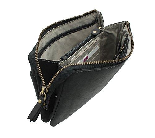 Mala Leather, Poschette giorno donna, Black (Nero) - 7119_88 Black