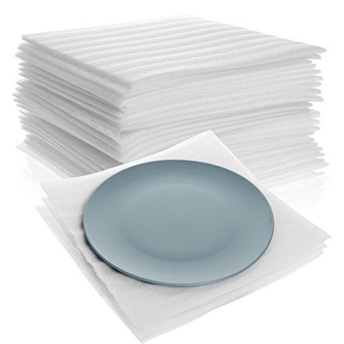 30,5x 30,5cm Kissen Schaumstoff Blatt (50Count), Supplies für, sicher Wrap Geschirr, Gläser & Möbel Beine von California Basics