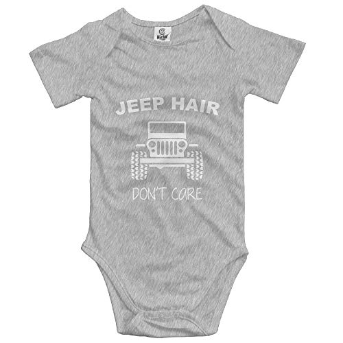 b56d62f5c7f8c Newborn Baby Infant Jeep Hair Don't Care Printed Short Sleeve Jumpsuit  Rompers Baby Crawler Suit 12Months