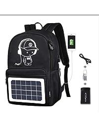 Huiit Mochila para portátil Mochila eléctrica con Puerto de Carga USB Mochila de Viaje Impermeable Mochila Escolar…