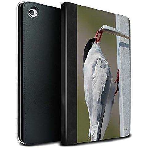 Stuff4 PU Cuero Funda/Carcasa/Folio Libro en Para el Apple iPad Mini 4 tablet / serie: Ártico Animales - Ártico Pájaro/Tern