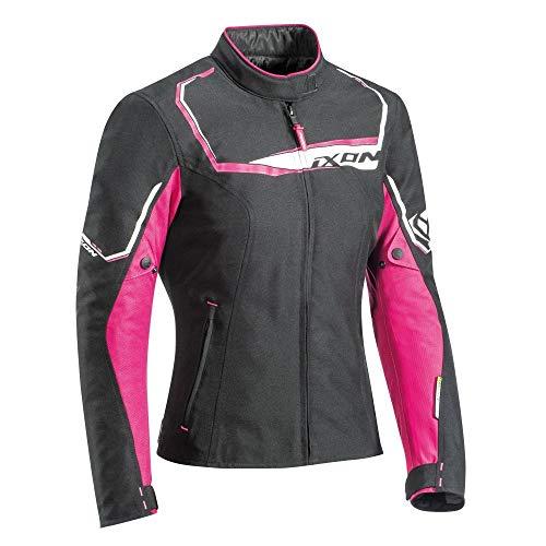 Ixon - Giacca da moto Challenge da donna, taglia M, colore: Nero fucsia