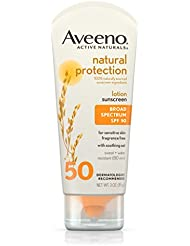Aveeno SPF 50 Natural Protection Sunscreen Lotion, 3 Ounce by Aveeno