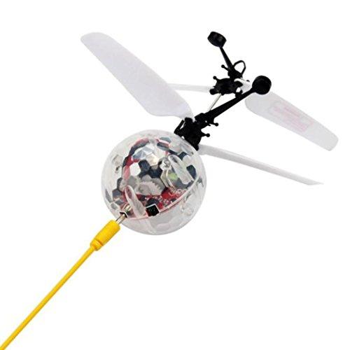 Venta caliente !helicóptero ,FeiXiang Flying RC bola eléctrica LED intermitente avión helicóptero de inducción de la luz juguete (B)