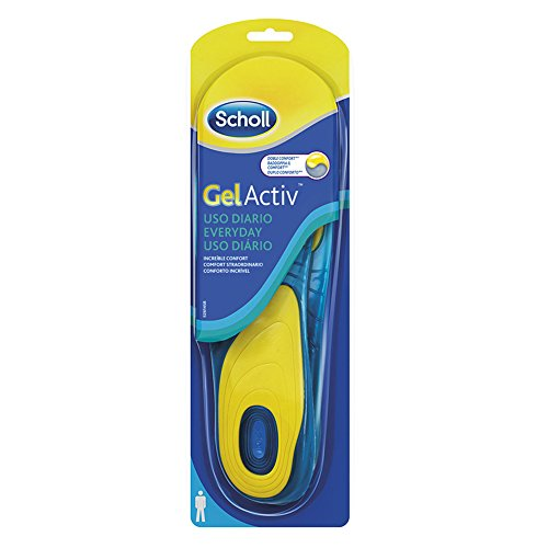 Scholl Gel Activ Everyday Solette Uso Quotidiano per Uomo, 40-46.5 EU, 1 Paio