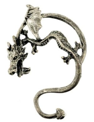 Drache mit gebogenem in Antik Bronze ()