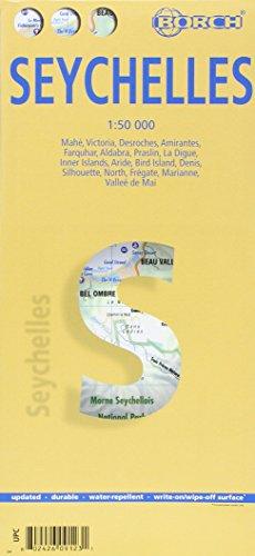 Seychelles, Seychellen, Borch Map: Mahé, Victoria, Desroches, Amirantes, Farquhar, Aldabra, Praslin, La Digue, Inner Islands, Aride, Bird Island, ... Frégate, Marianne, Valleé de Mai (Borch Maps)
