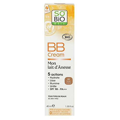 BB cream au lait d'ânesse bio beige soyeux 40mL SO'BiO étic
