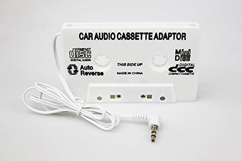 Adaptateur cassette voiture de voiture Adaptateur cassette (pour Smartphones, Lecteur mp3, lecteur CD, iPod, iPad, Tablettes, DVD, PDA utilisable pour la musique sur le Cassette Tape sur autoradio, avec aux 3,5mm Jack)