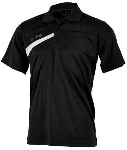 MITRE Polarize Erwachsene FuÃ?ball-Poloshirt schwarz - schwarz / weiß
