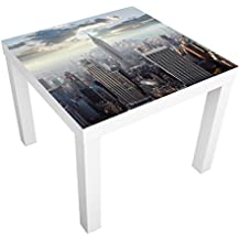 Vinilo adhesivo para muebles IKEA - Lack table Sunrise In New York, Tamaño:55cm x 55cm