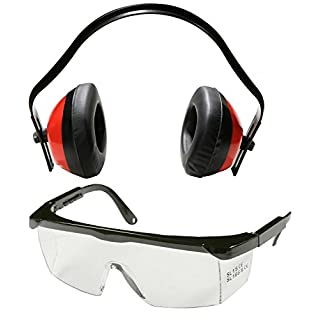 Health and Safety set 1x Hearing Protection and 1x Safety Glasses