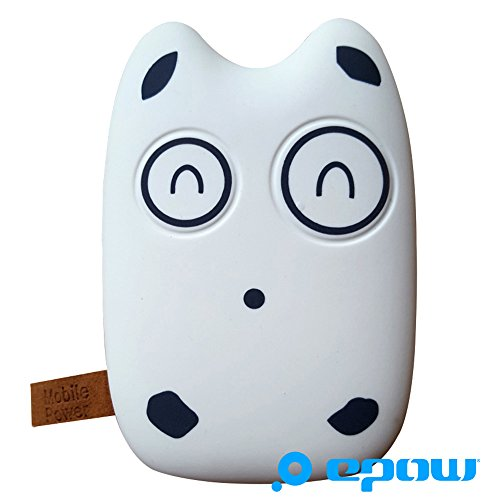EPOW® Batterie Externe Emoji Chat Mignon 2600mAh, Batterie Portable Emoticone Fun idéale Pokemon GO, Chargeur Externe Power Bank Compatible avec iPhone, Samsung, Compatible Tous Les Smartphones